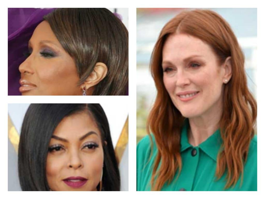 3 actrices de diferentes edades cambian su estilo con diferentes peinados o pelucas