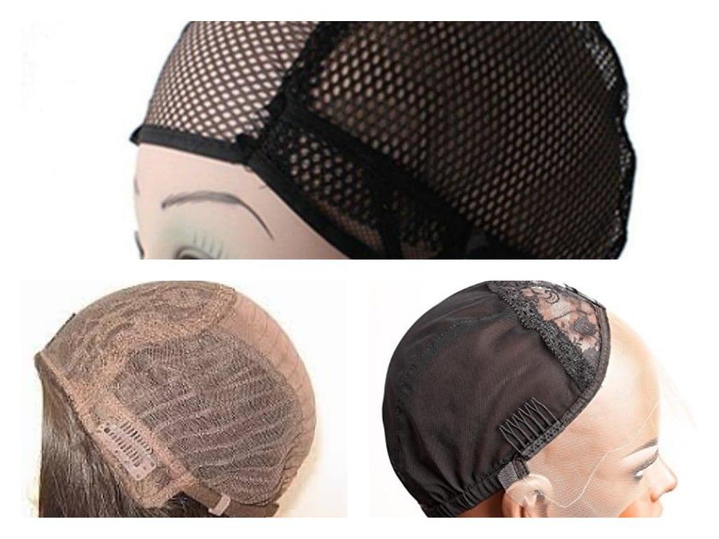 imagen mostrando diferentes gorros para el uso con pelucas oncológicas