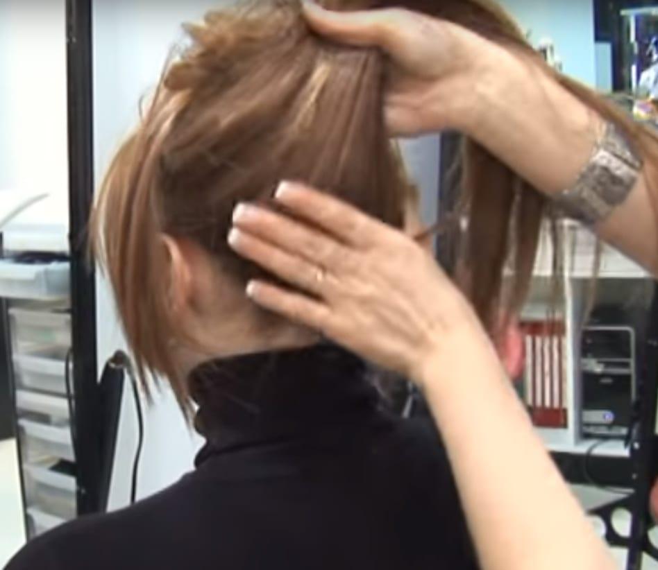 imagen de una melena con extensiones de cabello ya colocadas