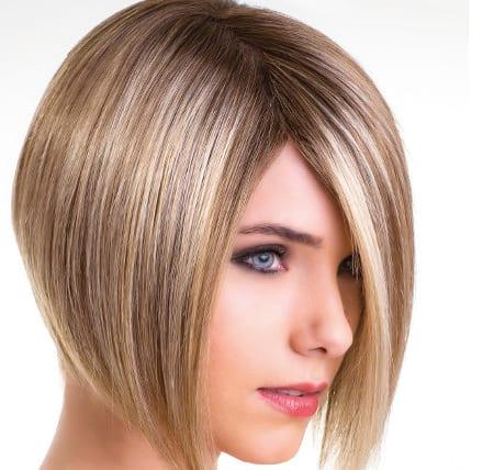 imagen de una mujer con una peluca oncológica