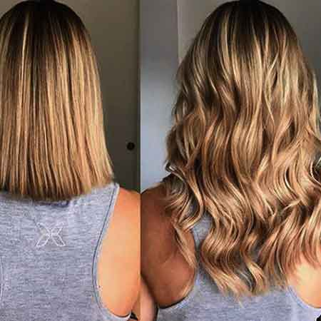 Extensiones clip para cabello corto.