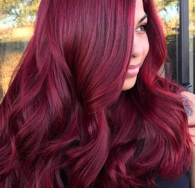 color pelo rojo invierno 2020