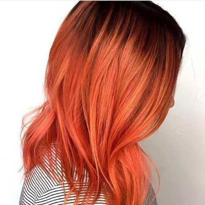 tonos de cabello cobrizos y corales