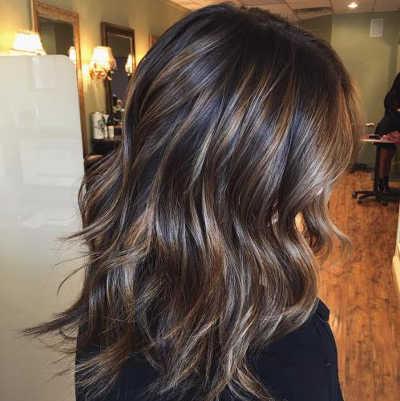 color de pelo chocolate oscuro