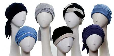 Varias gorras oncológicas de algodón para mayor comodidad